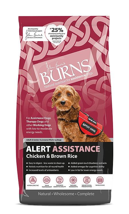 Burns Alert Chicken & Brown Rice Dog Food 12kg