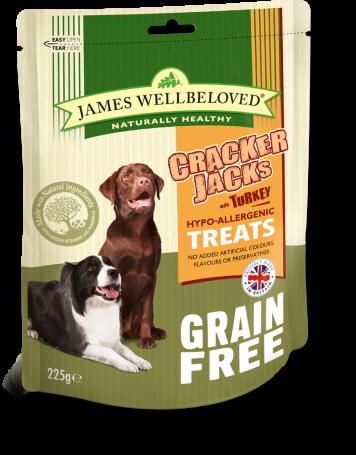 James Wellbeloved Crackerjacks Turkey Med GF 225g