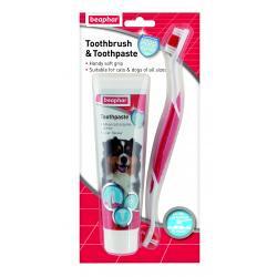 Beaphar  Dog Toothbrush & Toothpaste Pack