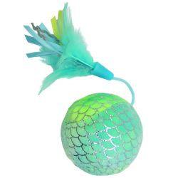 Happy Pet Mermaid Ball Cat Toy Blue