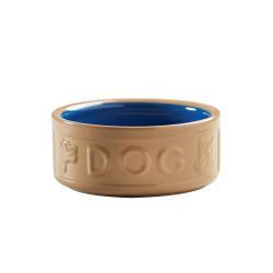 Mason Cash 15cm Cane & Blue Lettered Dog Bowl 6 inch