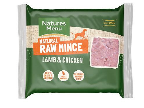 Natures Menu Frozen Minced Lamb & Chicken 12 x 400g
