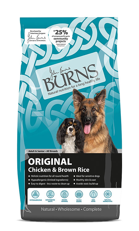 Burns Original with Chicken Adult/Senior Dog Food 12kg
