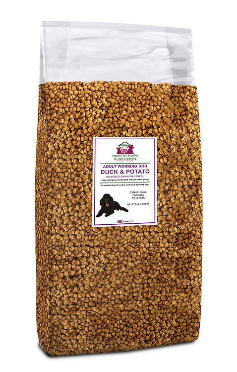 Ingleby Pet Supplies Super Premium Dog Food Duck & Potato 12kg