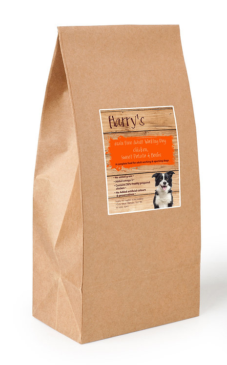 Harry's Grain Free Dog Food Working Chicken with Sweet Potato & Herbs 15kg