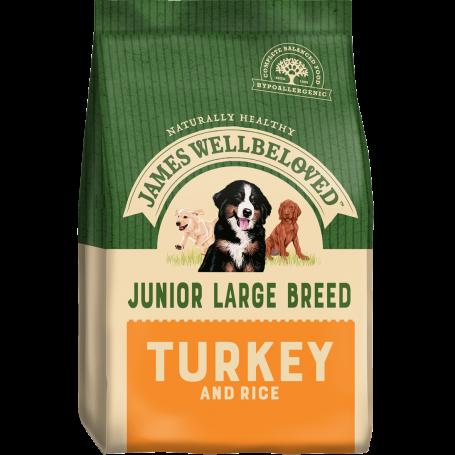 James Wellbeloved Large Breed Turkey & Rice Junior 15kg