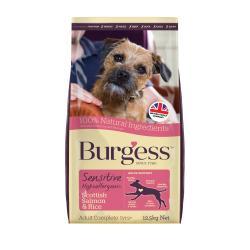 Burgess Sensitive Adult Dog Food Salmon & Rice