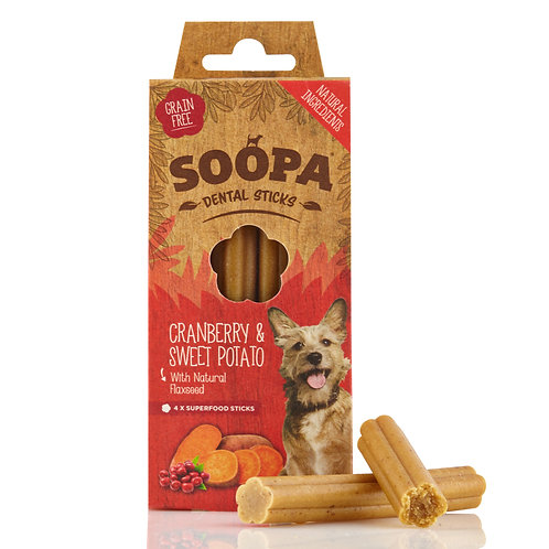Soopa Dental Sticks Cranberry & Potato (4pk)