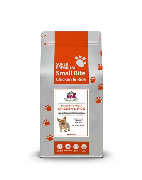 Ingleby Pet Supplies Super Premium Small Bite Adult Chicken & Rice 12kg