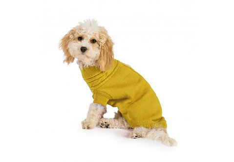 Ancol Cable Knit Dog Jumper Mustard