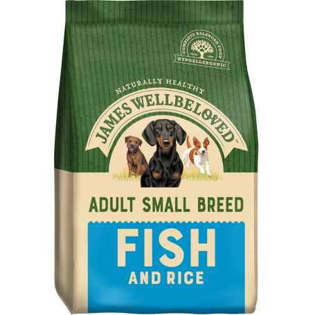 James Wellbeloved Small Breed Fish & Rice Adult 7.5kg