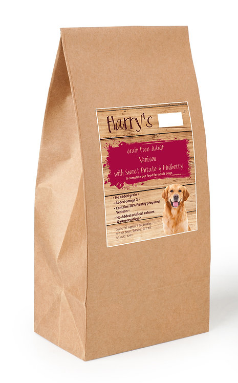 Harry's Grain Free Dog Food Venison with Salmon, Sweet Potato & Mulberry 2kg