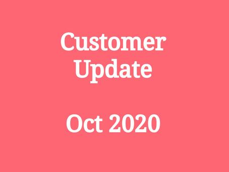 Customer Update - Oct 2020