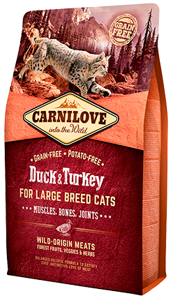 Carnilove Duck & Turkey for Large Breed Cats 400g