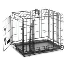 2 DOOR DOG CRATE REMOVABLE BASE