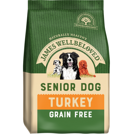 James Wellbeloved Senior Grain Free Turkey & Veg 10kg