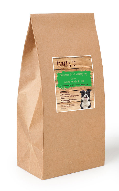 Harry's Grain Free Dog Food Working Lamb with Sweet Potato & Mint 15kg