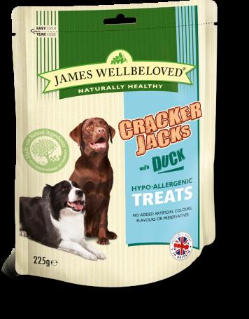 James Wellbeloved Crackerjacks Duck Med 225g