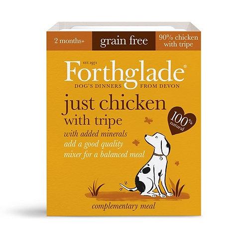 FORTHGLADE JUST CHICKEN & TRIPE 90% MEAT GRAIN FREE 18 X 395G