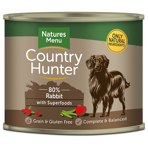 Country Hunter Full Flavoured Rabbit Dog Food 6 x 600g