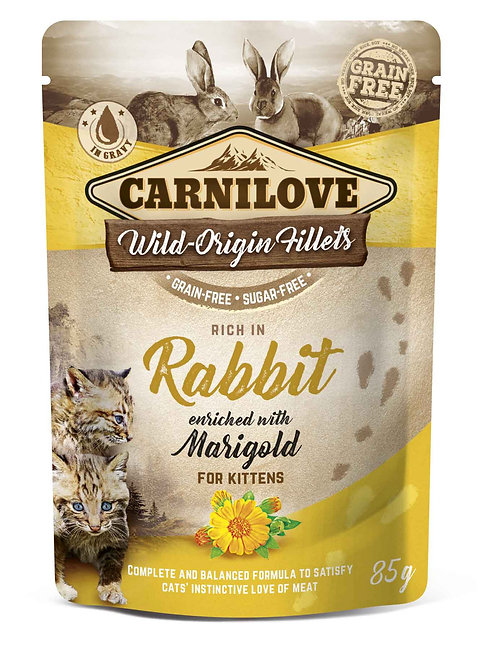 Carnilove Kitten Pouch Rabbit with Marigold 85g