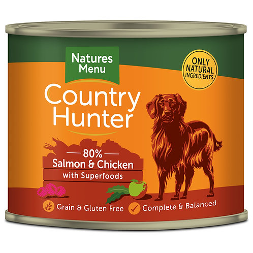 Country Hunter Salmon with Chicken Dog Food 6 x 600g