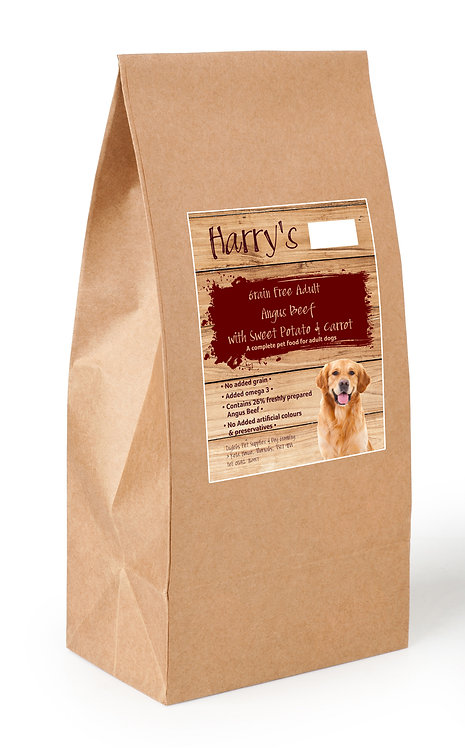 Harry's Grain Free Dog Food Angus Beef with Sweet Potato & Carrot 2kg