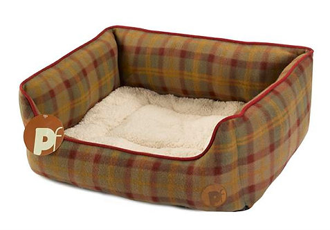 Country Check Fleece Dog Bed Square