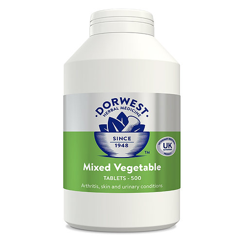 Dorwest Mixed Veg Tablets for Dogs & Cats 500 Tablets