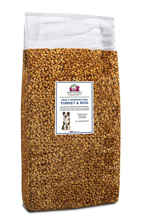 Ingleby Pet Supplies Super Premium Adult Dog Food Turkey & Rice 15kg