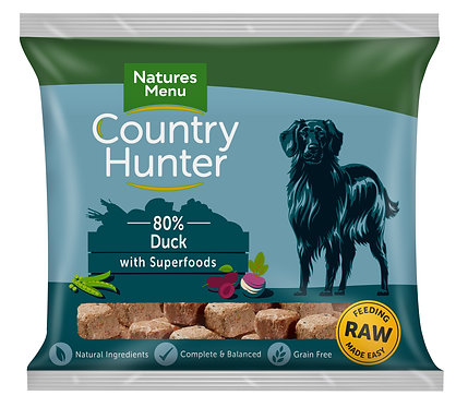 Country Hunter Raw Nuggets Duck Superfoods 1kg