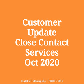Customer Update - Close Contact Services Oct 2020.