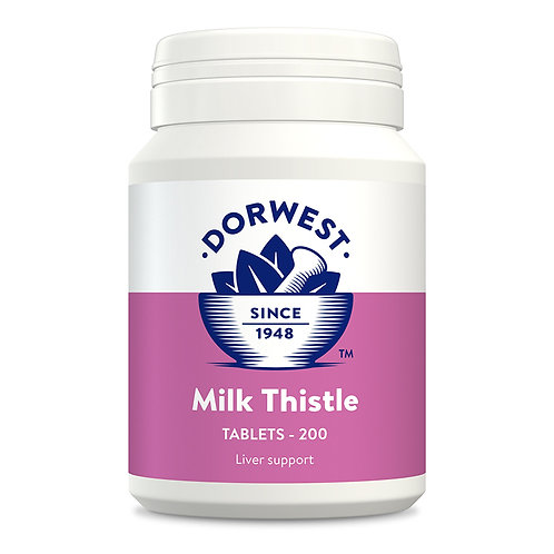 Dorwest Milk Thistle Tablets for Dogs & Cats 200 Tablets