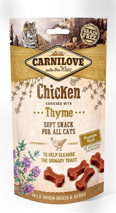 Carnilove Semi-Moist Cat Treats Chicken with Thyme 50g