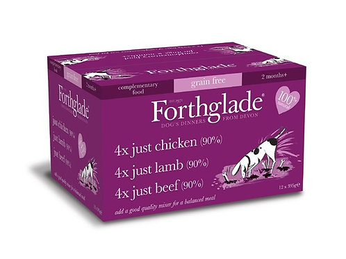 FORTHGLADE JUST MULTIPACK 90% MEAT GRAIN FREE 12 X 395G