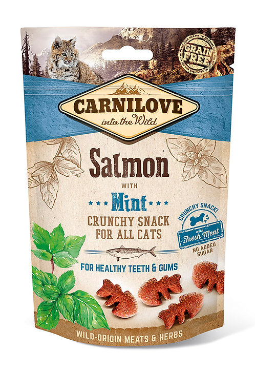 Carnilove Crunchy Cat Treats Salmon with Mint 50g
