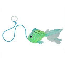 Happy Pet Mermaid Goldfish Blue Cat Toy