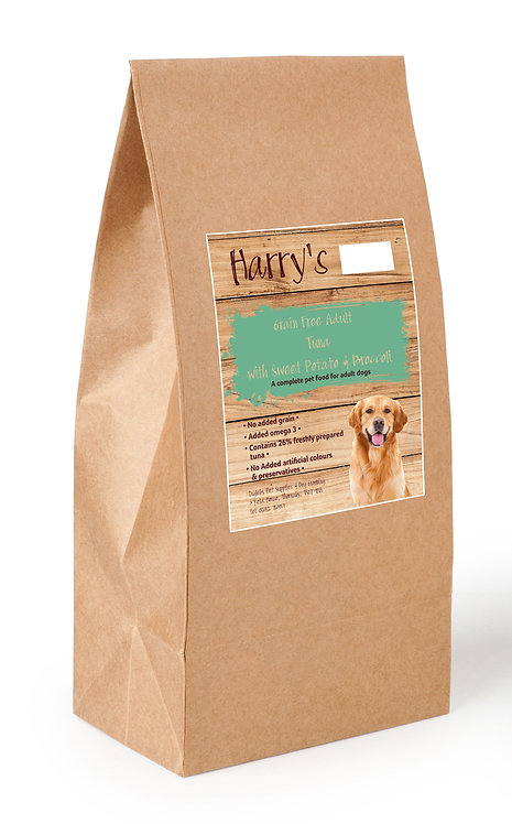 Harry's Grain Free Dog Food Tuna with Sweet Potato & Broccoli 2kg