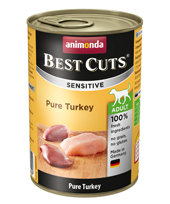 Animonda Sensitive Adult Dog Best Cuts Tin Pure Turkey 6 x 400g