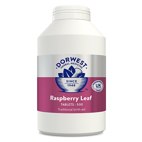 Dorwest Raspberry Leaf Tablets for Dogs & Cats 500 Tablets