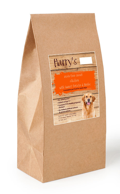 Harry's Grain Free Dog Food Chicken with Sweet Potato & Herbs 2kg
