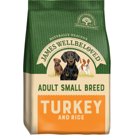 James Wellbeloved Small Breed Turkey & Rice Adult 1.5kg