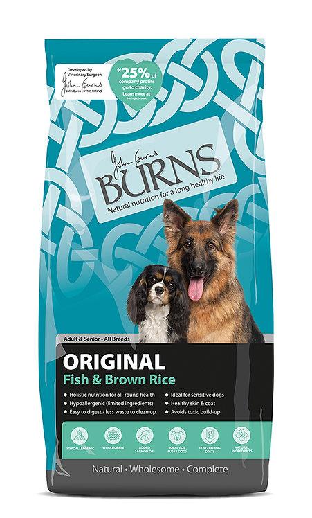 Burns Original with Fish Adult/Senior Dog Food 12kg