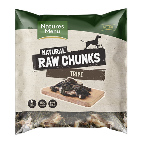 Natures Menu Natural Tripe Raw Chunks 1kg