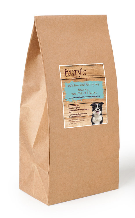 Harry's Grain Free Dog Food Haddock with Sweet Potato & Parsley  15kg