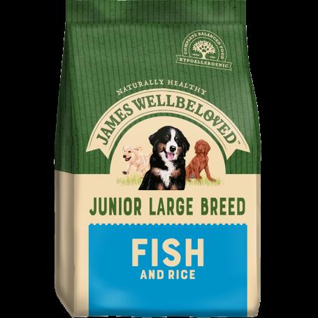 James Wellbeloved Large Breed Fish & Rice Junior 15kg