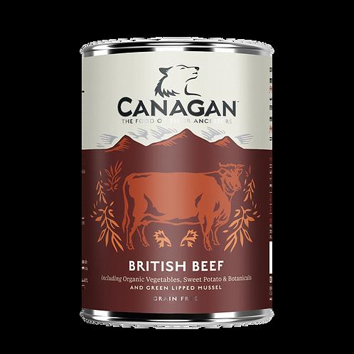 Canagan Wet Dog Food British Beef 400g x 6