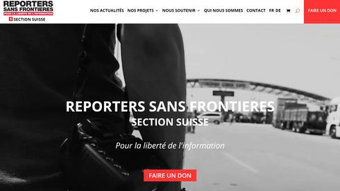 REPORTERS SANS FRONTIÈRES SECTION SUISSE