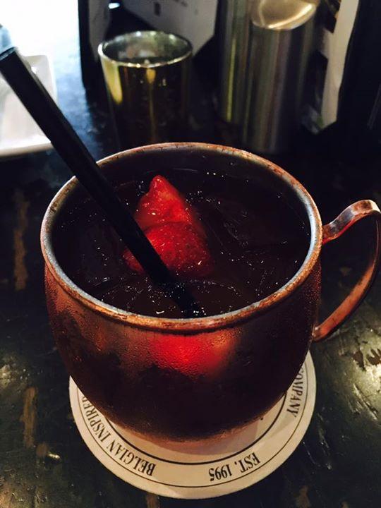 Strawberry Lemon Mule