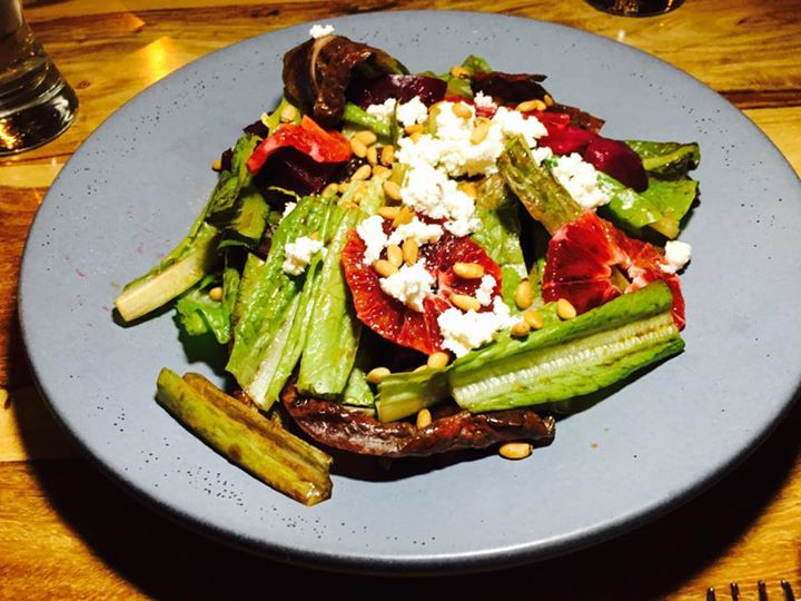 Candied Beets stripped and Blood Orange salad